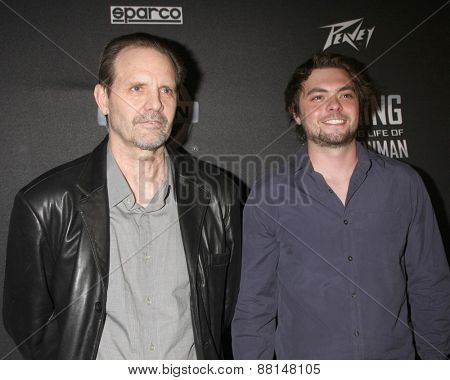 LOS ANGELES - FEB 16:  Michael Biehn, son at the