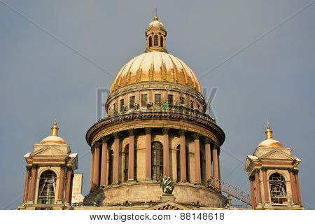 The Famous St. Isaac Cathedral, The Symbol Of Saint-petersburg City