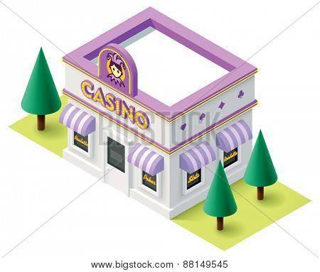 Vector isometric casino building icon