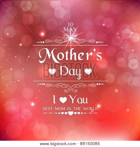 Beautiful poster, banner or flyer design for Happy Mother's Day celebration.