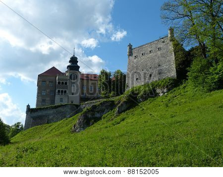 Castle in Pieskowa Skala