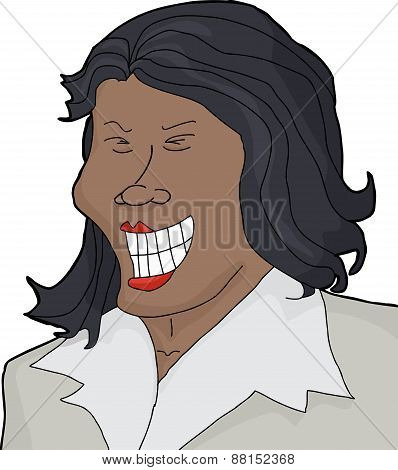 Isolated Laughing Asian Woman