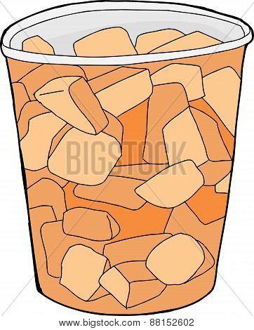 Cartoon Cantaloupe Cup