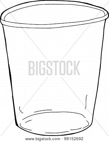 Empty Outlined Cup