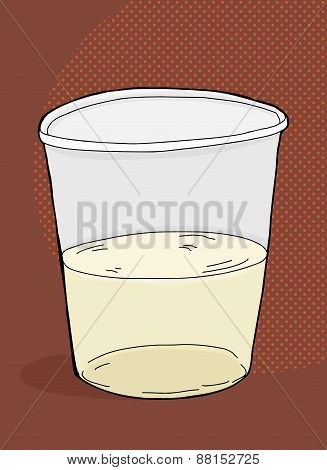 Half Full Plastic Cup
