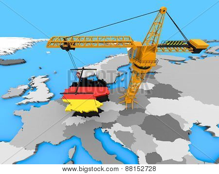 Germany On A Crane