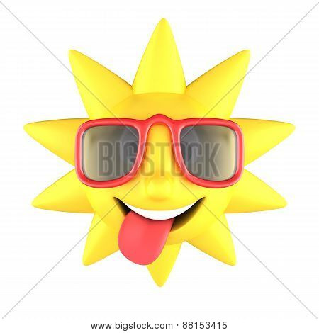 Sun With Sunglasses Smiling