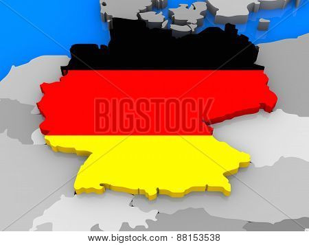 Germany Standing Out Of Map