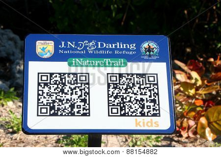 SANIBEL, FLORIDA - DECEMBER 7: iNature Trail Digital Sign Ding Darling Wildlife Refuge 2011
