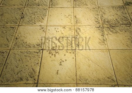 Brown Ceramic Floor Tiles Closeup Texture