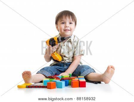 kid little boy playing on floor