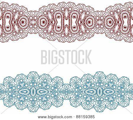 Linear Floral Ornament.