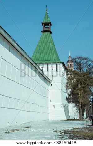 Wall Of Trinity Sergius Lavra In Sergiev Posad.