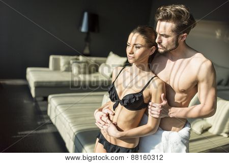 Young Couple In The Room