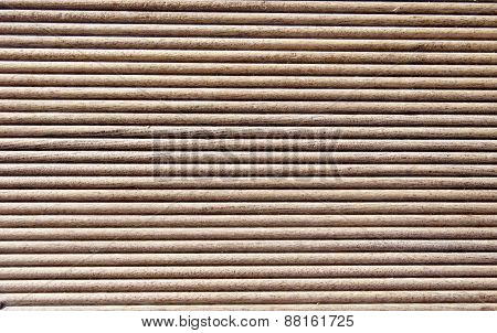 Wooden Dark Brown Grooves Panel