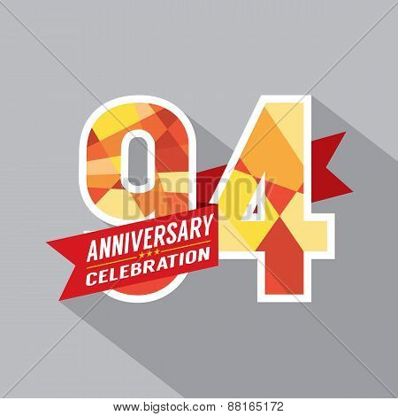 94Th Years Anniversary Celebration Design.