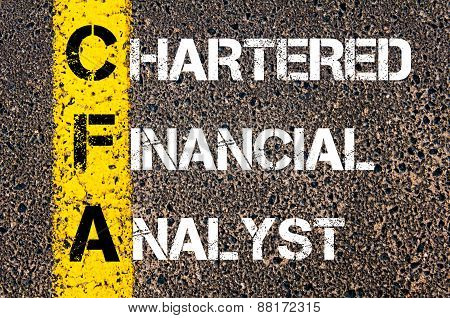 Business Acronym Cfa - Chartered Financial Analyst