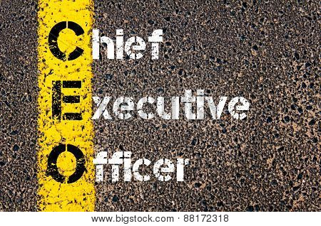 Business Acronym Ceo - Chief Executive Officer