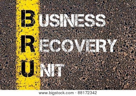 Business Acronym Bru - Business Recovery Unit