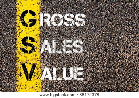 Business Acronym Gsv - Gross Sales Value