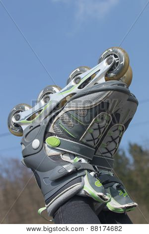 Rollerblades Against A Blue Sky