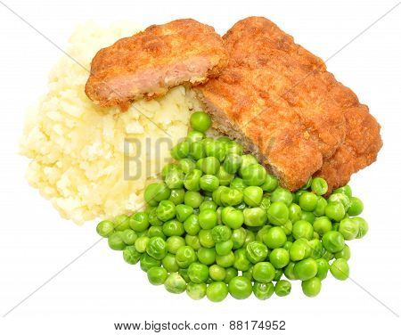 Pork Fritters And Mashed Potato