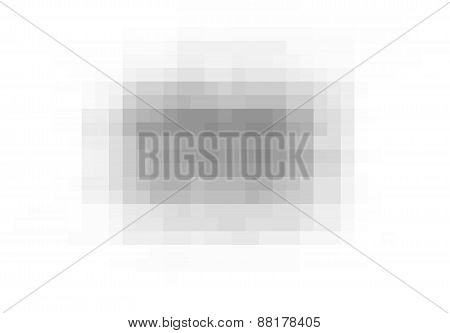 Pixel Grunge Vector Black Wide Stain Over White