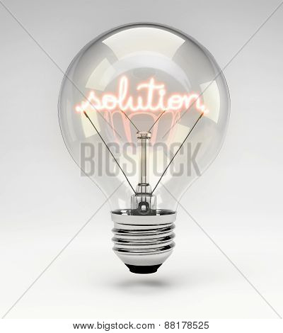 Concept Light Bulb - Solution