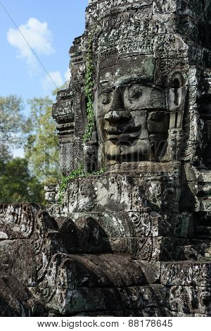 Faces Of Ancient Bayon Temple
