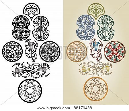 Art Nouveau Pattern Collection
