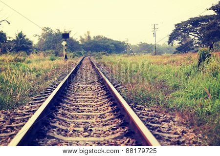 railway track in thailand