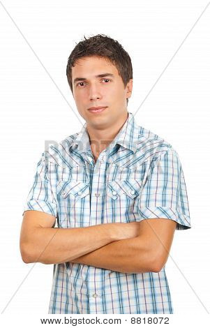 Casual Man With Arms Folded