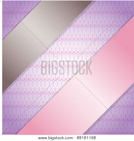 Background with ribbons.