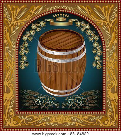 Banner Barrel Advertising  Beer