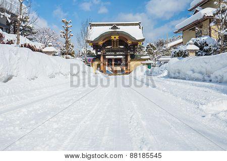 Takayama Betsuin Shorenji Temple In Japan.