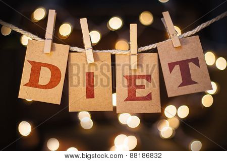 Diet Concept Clipped Cards And Lights