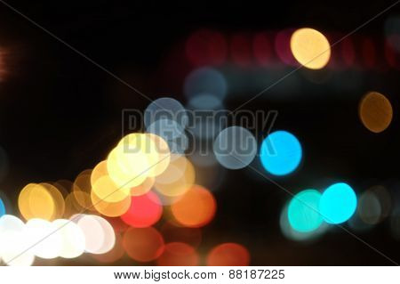 Colorful Bokeh Background background with defocused lights.