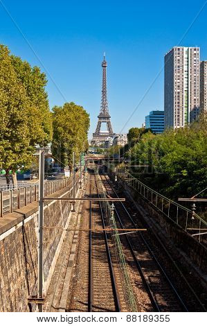 Unusual View Of The Eiffel Tower