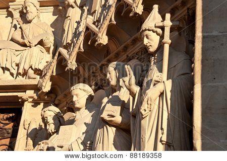 Notre Dame De Paris, Sculptures