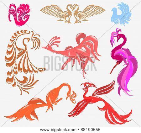 Bird Phoenix Glossy Icon