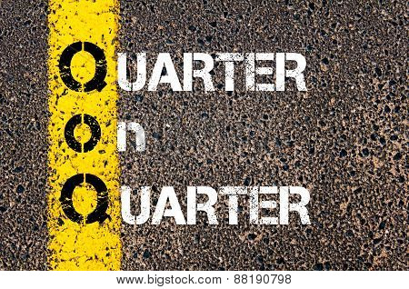 Business Acronym Qoq - Quarter On Quarter