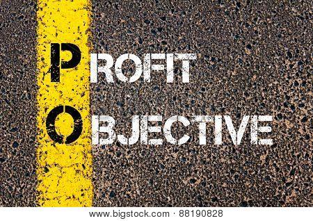 Business Acronym Po - Profit Objective