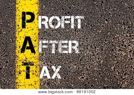 Business Acronym Pat - Profit After Tax