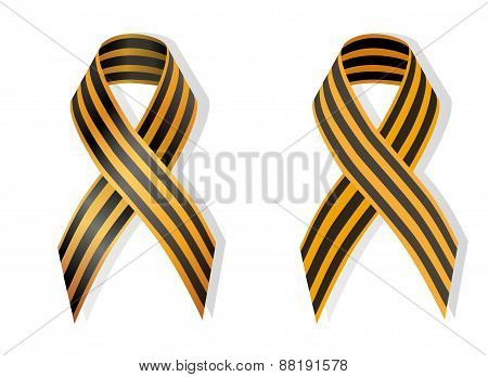 Orange And Black Ribbon Ribbon Awareness