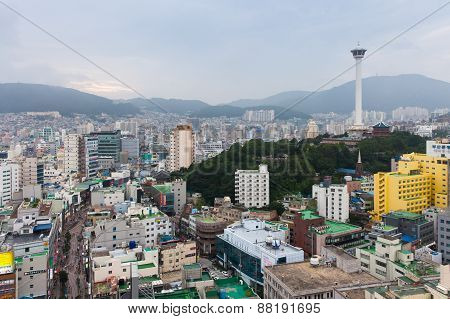 Daytime view over Busan city, South Korea