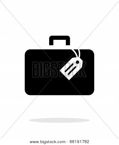 Case with label simple icon on white background.