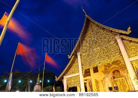 Wat Chedi Luang during City Pillar Festival