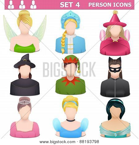 Vector Person Icons Set 4