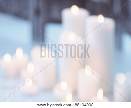 Candles Flame With Bokeh