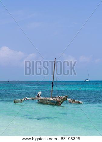 Dhow boat in Tanzania